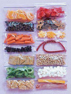Why spend a fortune on prepackaged 100 calorie snack packs when you can make your own! You can use the small Ziploc snack size backs or the various sizes of Ziploc reusable containers! Here are a few 100 Calorie Snack Pack Ideas 1/2 c. Lowfat Yogurt (sprinkle with frozen blueberries, or with cinnamon, or nutmeg for variety) 1 Large Hard Boiled Egg 1 Orange, peeled and divided into segments 28 Grapes 29 pistachios 1 3/4 cups raspberries 1 c. Blueberries 1 c. Mango Chunks 1 3/4 c. Cantaloupe…