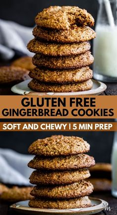 These gluten free gingerbread cookies are easy to make, they're healthy, and paleo too. You can quickly prep them in 5 minutes, and they turn out hard but soft, and chewy all at once. They are a healthy dessert that taste delicious out of the freezer, too. #movementmenu #glutenfree #gingerbread #cookies Best Sugar Cookie Recipe, Healthy Cookie Recipes, Healthy Dessert Recipes, Gluten Free Desserts, Paleo Recipes, Sweet Recipes, Delicious Desserts, Gluten Free Gingerbread Cookies, Dairy Free Cookies