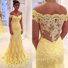 Resultado de imagem para vestidos longos para formatura amarelo