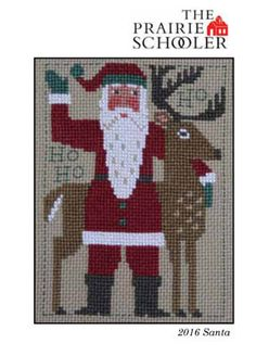 NEW 2016 Schooler Santa Christmas cross stitch by thecottageneedle