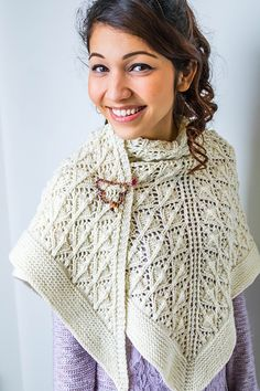From Aroha Knits this stunning shawl has been knit in Nurturing Fibres Supertwist DK