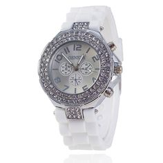 Fashion Silicone GENEVA Watch Crystal Silicone Jelly Watches Watched Women Rhinestone Watch Please allow up to 7 business days for shipping and handling Casual Watches, Quartz Watch, Fashion Watches, Business Casual, Michael Kors Watch, Fashion Brand, Bracelet Watch, Bling, Crystals