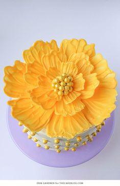 476 best buttercream flowers images on pinterest in 2018 chocolate flower cake mightylinksfo