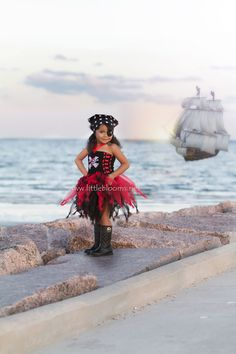ARRR Matey!! A ship approaches through the mist – all hands on deck!  The Pirate Tutu Costume is bursting with 'piratey' goodness. Your little ruffian will just adore this tutu costume and will soon have your household in tip-top pirate shape.