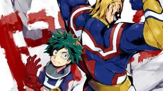 Download All Might and Midoriya by Pixiv 451593 1920x1200
