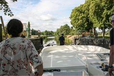 Per Hausboot unterwegs auf der Mayenne in Frankreich