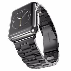 17331da390c Apple Watch Stainless Steel Band with Tri Link Design - YCW Tech Apple  Armband