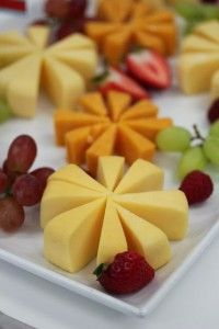 "Cheese ""Stars"" and Fruit"
