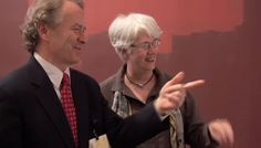 Jeff Daly with curator Helen Evans working on design of Philippe de Montebello exhibt at the Metropolitan Museum of Art