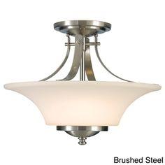 2-light Indoor Semi-flush Mount   Overstock.com Shopping - The Best Deals on Flush Mounts