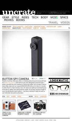 The website 'http://uncrate.com/stuff/button-spy-camera/' courtesy of @Pinstamatic (http://pinstamatic.com)