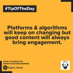 #marketingknowledgeseries #Tipoftheday Growth Hacking, Tip Of The Day, Knowledge, Bring It On, Content, Marketing, Digital, Business, Store