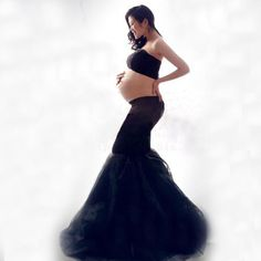 Maternity Photography Pregnancy Clothing Photo Portrait The Black Long Culottes