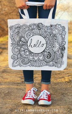 Coloring page TOTE BAG and shirt (diy!)