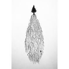 JULKALENDERN 2015  Del 10 av 24   #micaelawernberg #illustration #julkalender #nature #green #julkalendern2015 #artoftheday #drawing  #julkalenderutmaning2015 #tree #christmastree #gran #christmascalendarchallenge2015 #handdrawn #pen