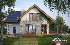 Elsa - Dobre Domy Flak & Abramowicz Small Modern House Plans, Contemporary House Plans, Modern House Design, House Roof, Facade House, Philippines House Design, Modern Architecture House, Home Design Plans, Design Case