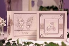 Butterfly Framelits and EF - love this #SU creation / Barbara's creative studio: Everything for the wedding - Part 1