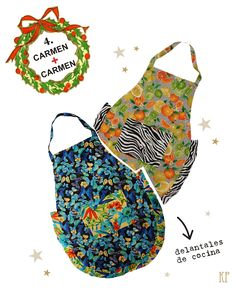 COMBO 4:  delantal CARMEN + delantal CARMEN