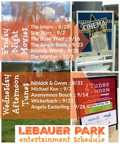 LeBauer Park Entertainment Schedule