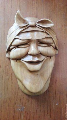"""Настенная маска """"Радушная хозяйка"""" – купить в интернет-магазине на Ярмарке Мастеров с доставкой - CV0KFRU"""