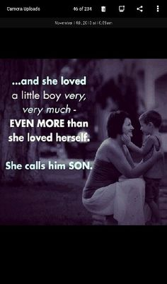 She calls him son