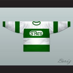 """Toronto St Pats 1922-25  Hockey Jersey Any Name or Number New. SHIPPING TIME IS ABOUT 3-5 weeks I HAVE ALL SIZES and can change Name and Number (Width of your Chest)+(Width of your Back)+ 4 to 6 inches to account for space for a loose fit Example: 18"""" wide chest plus 18"""" wide back plus 4"""" of space, would be a size 40"""" Please consider ordering a larger size, if you plan to wear protective sports equipment under the jersey. size chart chest: XS 30""""-32"""" Chest Measurement (76-81 cm) S…"""