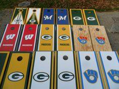 Wisconsin Teams  Any Design  Cornhole Baggo Boards by Sportygrl44, $199.99