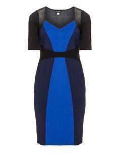 Colour block plus size dress by Anna Scholz. Shop now: http://www.navabi.us/dresses-anna-scholz-colour-block-dress-black-blue-21518-2402.html?utm_source=pinterest&utm_medium=social-media&utm_campaign=pin-it