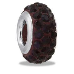 DaVinci Beads January CZ Garnet Crystal Row Jewelry DB31-8 #beadedjewelry