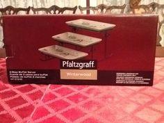 Excellent Pfaltgraff Winterwood NIB 3 Step Buffet Server #Pfaltzgraff