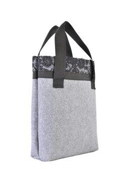 Grey felt bag