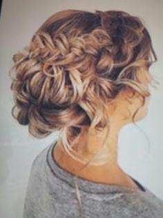 Wedding hairstyle; )