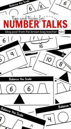 Ideas and FREE resources for implementing Number Talks. Great ideas for building number sense!