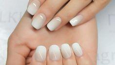 Ombre Nägel Weiß und Beige