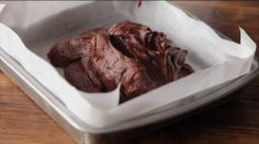 Chocolate brownie by London based food photographers, Michael Michaels