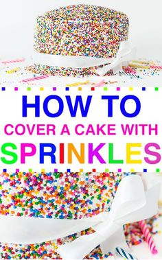 HOW TO VIDEO: How To Cover A Cake With SPRINKLES! @tablespoon #tablespoon #ad