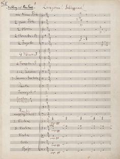 Gustav Mahler - First Symphony, 1893 manuscript