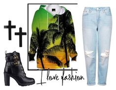 """fashion"" by danyela2010 ❤ liked on Polyvore featuring GUESS and Topshop"