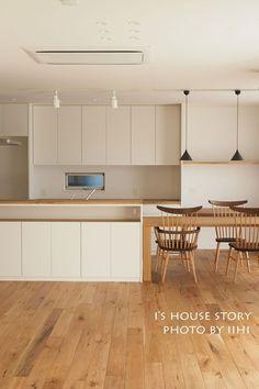 実例に学ぶ'回遊動線キッチン'のつくり方~間取り・インテリア・素材・設備~@大宮の家   いいひブログ - いいひ住まいの設計舎