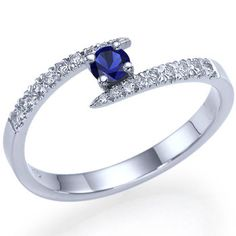 Natural Blue Sapphire Engagement ring