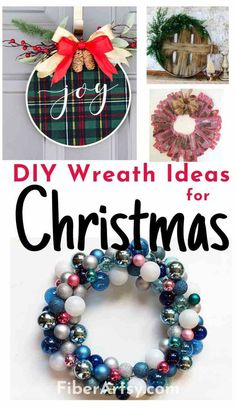 DIY Christmas Wreath Ideas for your Holiday Decorations. Just in time for the Christmas Season, I have found for you a wonderful variety of Handmade Christmas Wreaths you can make for your home. #christmaswreaths #diychristmasdecor #diychristmaswreath #christmascrafts