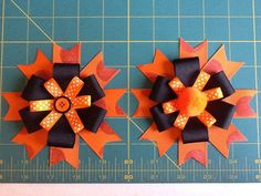 Halloween Collection Barette 1 by MeridaMerchandise on Etsy, $6.00 SALE ON ALL BOWS at Merida Merchandise on Etsy. https://www.etsy.com/shop/MeridaMerchandise?section_id=13878367