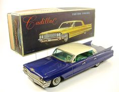 "1961 Cadillac 14"" Sedan de Ville Japanese Tin Car by Yonezawa NR"
