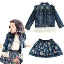 Resultado de imagen de vestidos de jean para niña
