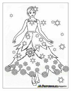 Iarna Barbie Coloring Pages, Colouring Pages, Adult Coloring Pages, Coloring Books, Winter Princess, Winter Activities For Kids, Russian Folk Art, Human Drawing, Princess Coloring