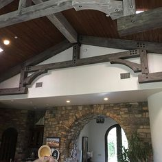 These #beams at a #Clients house in #ranchosantafe ., are getting a #face #lift! What used to be #dark and #dreary, is now #light and #beautiful. The original color was almost a black walnut. Wich made the 20' ceilings seem very cold and heavy. The #room feels #grand now. #interiordesign #custom #remodel #ranchosantafe #palmsprings #laquinta. #itsfridaynomorework #ranchosantafelocals #sandiegoconnection #sdlocals #rsflocals - posted by Nelson Santos  https://www.instagram.com/nelsonpsantos…
