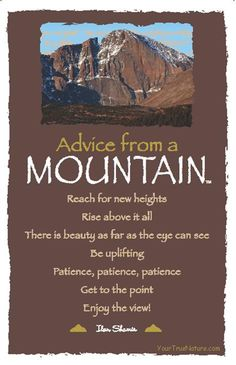 Advice from a Mountain