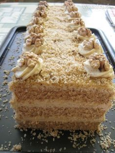 Czech Desserts, Sweet Desserts, Sweet Recipes, Baking Recipes, Cookie Recipes, Dessert Recipes, Jaffa Cake, Kolaci I Torte, Czech Recipes