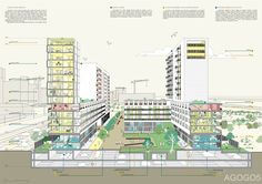 gosplan architects - architecture is a mass medium Urban Planning, Multi Story Building, Architecture, Models, Space, Inspiration, Arquitetura, Templates, Floor Space