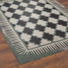 Moroccan Tile Indoor Outdoor Floorcloth